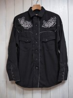 <img class='new_mark_img1' src='//img.shop-pro.jp/img/new/icons14.gif' style='border:none;display:inline;margin:0px;padding:0px;width:auto;' />【AYUITE】WW DOLMAN WESTERN SHIRT(BLACK)