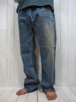 <img class='new_mark_img1' src='//img.shop-pro.jp/img/new/icons14.gif' style='border:none;display:inline;margin:0px;padding:0px;width:auto;' />【ARIGATO FAKKYU】DENIM THAI PANTS