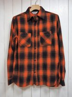 <img class='new_mark_img1' src='//img.shop-pro.jp/img/new/icons14.gif' style='border:none;display:inline;margin:0px;padding:0px;width:auto;' />【FIVE BROTHER】LIGHT NEL WORK SHIRT(ORANGE OMBRE)