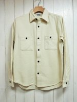 <img class='new_mark_img1' src='//img.shop-pro.jp/img/new/icons14.gif' style='border:none;display:inline;margin:0px;padding:0px;width:auto;' />【FIVE BROTHER】HEAVY NEL WORK SHIRT(PLAIN WHITE)