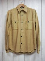 <img class='new_mark_img1' src='//img.shop-pro.jp/img/new/icons14.gif' style='border:none;display:inline;margin:0px;padding:0px;width:auto;' />【FIVE BROTHER】HEAVY NEL WORK SHIRT(PLAIN BEIGE)