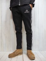 <img class='new_mark_img1' src='//img.shop-pro.jp/img/new/icons14.gif' style='border:none;display:inline;margin:0px;padding:0px;width:auto;' />【Burnout】KNIT DENIM TRACK PANTS(BLACK)