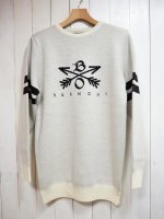 【Burnout】CROSSED ARROWS KNIT(H.GRAY)