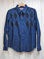 【ARIGATO FAKKYU】PATCH WORK SHIRT JACKET(INDIGO)