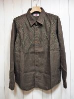【ARIGATO FAKKYU】PATCH WORK SHIRT JACKET(KHAKI)