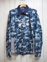 <img class='new_mark_img1' src='https://img.shop-pro.jp/img/new/icons41.gif' style='border:none;display:inline;margin:0px;padding:0px;width:auto;' />【Burnout】CROSSED ARROWS CAMOUFLAGE SHIRT