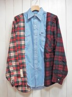<img class='new_mark_img1' src='https://img.shop-pro.jp/img/new/icons14.gif' style='border:none;display:inline;margin:0px;padding:0px;width:auto;' />【SEVESKIG】VINTAGE UPCYCLE SHIRT