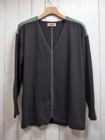 【ARIGATO FAKKYU】CUT BACK LONG T-SHIRT(BLACK)