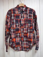 【JOHN'S CLOTHING】PATCHWORK SHIRT