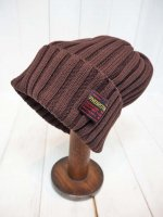 <img class='new_mark_img1' src='https://img.shop-pro.jp/img/new/icons14.gif' style='border:none;display:inline;margin:0px;padding:0px;width:auto;' />【FIVE BROTHER】COTTON KNIT CAP(BROWN)