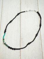 ☆予約商品【JOHNNY BUSINESS】Cut Beads Stretch Necklace /White