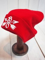 【Burnout】CROSSED ARROWS KNIT CAP(RED)
