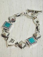 <img class='new_mark_img1' src='https://img.shop-pro.jp/img/new/icons14.gif' style='border:none;display:inline;margin:0px;padding:0px;width:auto;' />【JOHNNY BUSINESS】JB KING Bracelet MEN(Turquoise)