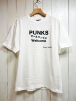 【JOHNNY BUSINESS】PUNKS オールウェイズ Welcome T-SH(WHITE)