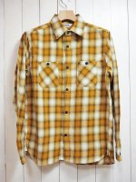 【FIVE BROTHER】LIGHT NEL WORK SHIRT(MUSTARD OMBRE)
