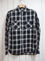 【FIVE BROTHER】LIGHT NEL WORK SHIRT(BLUE OMBRE)