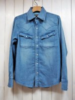 <img class='new_mark_img1' src='https://img.shop-pro.jp/img/new/icons14.gif' style='border:none;display:inline;margin:0px;padding:0px;width:auto;' />【AYUITE】SW SOFT DENIM SHIRT(USED)