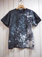 【HIROYUKI OBARA】TIE-DYE POCKET T-SHIRT(BLACK)