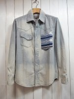<img class='new_mark_img1' src='https://img.shop-pro.jp/img/new/icons14.gif' style='border:none;display:inline;margin:0px;padding:0px;width:auto;' />【AYUITE】DUNGAREE RUG POCKET SHIRT