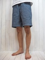 <img class='new_mark_img1' src='https://img.shop-pro.jp/img/new/icons14.gif' style='border:none;display:inline;margin:0px;padding:0px;width:auto;' />【FIVE BROTHER】HICKORY EASY SHORTS(BLUE)