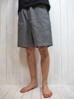 <img class='new_mark_img1' src='https://img.shop-pro.jp/img/new/icons14.gif' style='border:none;display:inline;margin:0px;padding:0px;width:auto;' />【FIVE BROTHER】HICKORY EASY SHORTS(BLACK)