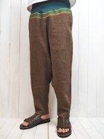 【ARIGATO FAKKYU】HARAMAKI SAROUEL PANTS(BROWN)