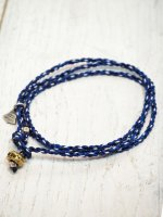 <img class='new_mark_img1' src='https://img.shop-pro.jp/img/new/icons14.gif' style='border:none;display:inline;margin:0px;padding:0px;width:auto;' />【amp japan】YACHT ROPE BRACELET(NAVY)