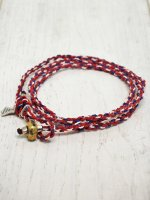 <img class='new_mark_img1' src='https://img.shop-pro.jp/img/new/icons14.gif' style='border:none;display:inline;margin:0px;padding:0px;width:auto;' />【amp japan】YACHT ROPE BRACELET(RED)