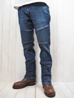 【HIROYUKI OBARA】SOFT STRETCH DENIM RIDING PANTS USED(INDIGO)