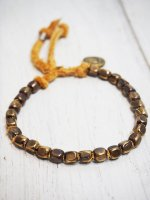 ☆予約商品【amp japan】DEERSKIN BRACELET With MARIA(BROWN)