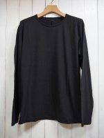 【STRUM】30/- NATURAL SOFT JERSEY LONG SLEEVE T-SHIRT(BLACK)