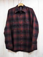 【STRUM】COTTON TWILL OMBRE CHECK MILITARY SHIRT