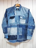 【SEVESKIG】UPCYCLE DENIM SHIRT