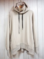 【STRUM】VELOUR LIKE KNIT WIDE PULLOVER HOODY