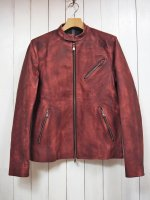 <img class='new_mark_img1' src='https://img.shop-pro.jp/img/new/icons14.gif' style='border:none;display:inline;margin:0px;padding:0px;width:auto;' />【STRUM】BURNING DYED CALF SKIN SINGLE RIDERS JKT