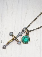 【amp japan】Jesus Necklace With Epoxy Medaille