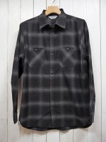 【FIVE BROTHER】LIGHT NEL WORK SHIRT(GRAY OMBRE)