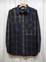 <img class='new_mark_img1' src='https://img.shop-pro.jp/img/new/icons14.gif' style='border:none;display:inline;margin:0px;padding:0px;width:auto;' />【FIVE BROTHER】LIGHT NEL CRAZY PATTERN SHIRT(BLUE×GRAY OMBRE)