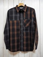 <img class='new_mark_img1' src='https://img.shop-pro.jp/img/new/icons14.gif' style='border:none;display:inline;margin:0px;padding:0px;width:auto;' />【FIVE BROTHER】LIGHT NEL CRAZY PATTERN SHIRT(BROWN×GRAY OMBRE)