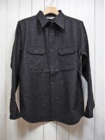 <img class='new_mark_img1' src='https://img.shop-pro.jp/img/new/icons14.gif' style='border:none;display:inline;margin:0px;padding:0px;width:auto;' />【FIVE BROTHER】LIGHT WOOL WORK SHIRT(BLACK)