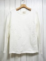 【GRAB IN HOLLYWOOD】VINTAGE FRENCH TERRY ALL CUT L/S(ONE WASH WHITE)