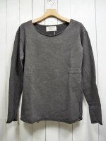 【GRAB IN HOLLYWOOD】VINTAGE FRENCH TERRY ALL CUT L/S(PIG BLACK)