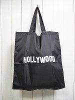 【GRAB IN HOLLYWOOD】NYLON ECO BAG(BLACK)