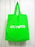 【GRAB IN HOLLYWOOD】NYLON ECO BAG(NEON GREEN)