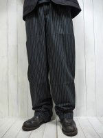 <img class='new_mark_img1' src='https://img.shop-pro.jp/img/new/icons14.gif' style='border:none;display:inline;margin:0px;padding:0px;width:auto;' />【UNCOMMON Threads】YARN DYED CHEF PANTS(BLACK & WHITE PIN STRIPE)