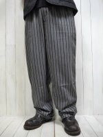 <img class='new_mark_img1' src='https://img.shop-pro.jp/img/new/icons14.gif' style='border:none;display:inline;margin:0px;padding:0px;width:auto;' />【UNCOMMON Threads】YARN DYED CHEF PANTS(GRAY CHEVRON & BLACK STRIPE)