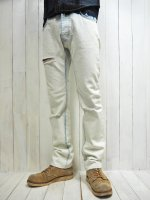 <img class='new_mark_img1' src='https://img.shop-pro.jp/img/new/icons14.gif' style='border:none;display:inline;margin:0px;padding:0px;width:auto;' />【AYUITE】STRETCH SELVEDGE DENIM PANTS(SUPER BLEACH)
