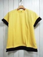 【STRUM】LOOPBACK SWEAT CREW NECK LAYERED T-SHIRT(YELLOW×BLACK)