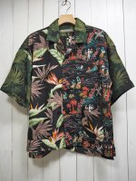 <img class='new_mark_img1' src='https://img.shop-pro.jp/img/new/icons14.gif' style='border:none;display:inline;margin:0px;padding:0px;width:auto;' />【AYUITE】CRAZY ALOHA SHIRT(BLACK)