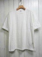 【STRUM】NATURAL SOFT COTTON PLAIN STITCHES CREW NECK WIDE T-SHIRT(WHITE)